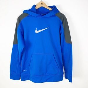 Nike Therma-Fit Blue Colorblock Pullover Hoodie